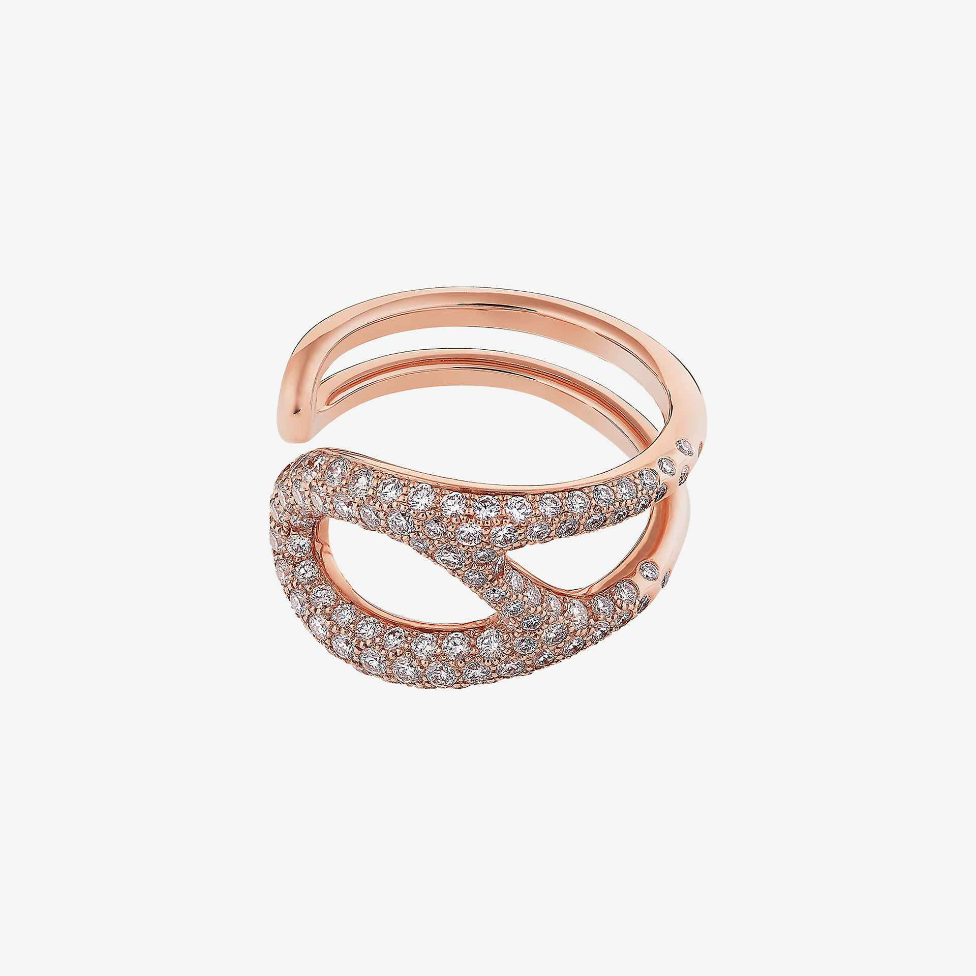 Chaine d'Ancre Punk ring, medium model
