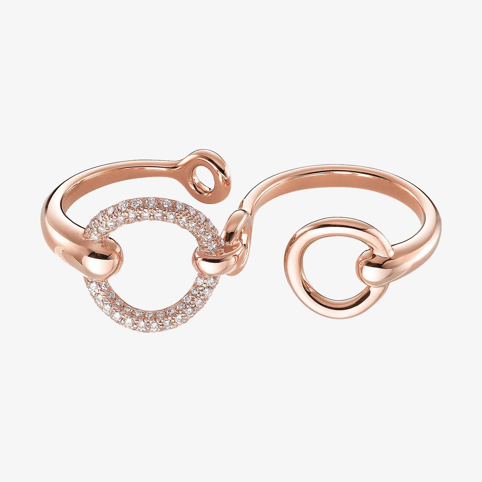 Filet d'Or double ring, large model